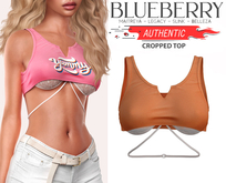 Blueberry - Authentic - Crop Tops - Orange