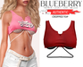 Blueberry - Authentic - Crop Tops - Red