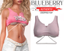 Blueberry - Authentic - Crop Tops - Soft Pink