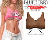 Blueberry - Authentic - Crop Tops - Tan