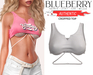 Blueberry - Authentic - Crop Tops - White