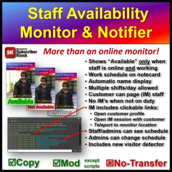 Staff Availability Monitor & Notifier