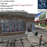 Complete Vintage Doll Store-Crate