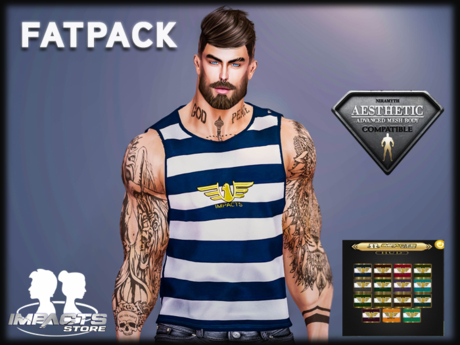 IMPACTS-TANK TOP RIVER  FATPACK(AESTHETIC)