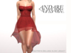 Andare - Molly Dress with Tulle Skirt Red