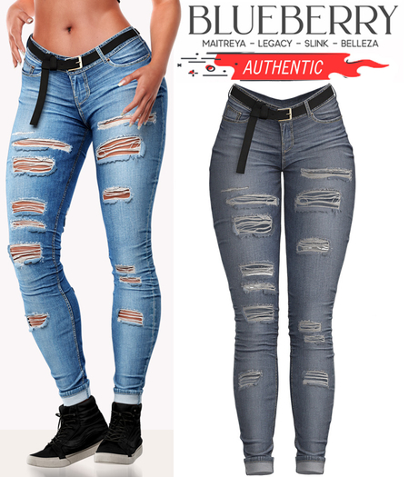 Blueberry - Authentic - Jeans - Faded
