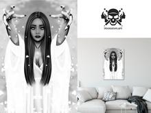 * 5th5ea5on * Valentina / Female Spirit Portrait Wall Art