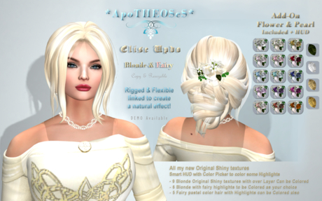 *AS Elise Updo / BLONDE & FAIRY/ COPY & RESIZABLE