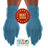 PPE COVID 19 Blue Latex Rubber Gloves BENTO (Maitreya) BOXED