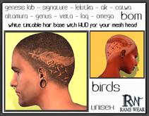 RWSH27-Rams Wear-UNISEX-hair base applier hud Birds