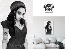 * 5th5ea5on * Gypsy / Female Portrait Wall Art