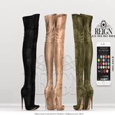 REIGN.- ALEX OVER KNEE BOOTS- CUSTOMIZATION PACK (unpacked)