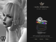 Lux Eternal: Bridal Engagement & Wedding Rings - SAPPHO
