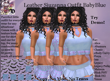 Leather Siuzanna Outfit BABYBLUE (ADD ME)