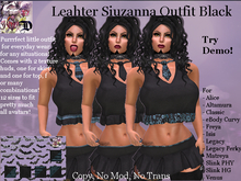 Leather Siuzanna Outfit BLACK (ADD ME)