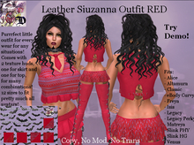 Leather Siuzanna Outfit RED (ADD ME)