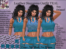 Leather Siuzanna Outfit TEAL (ADD ME)