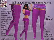 Tall Laced Boots Siuzanna FUSHIA (ADD ME)