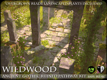 Heart - Ancient Gothic Ruined Pathway Kit - Decorated