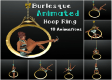 BURLESQUE Hoop Ring Animated/Poses Color Change Bows
