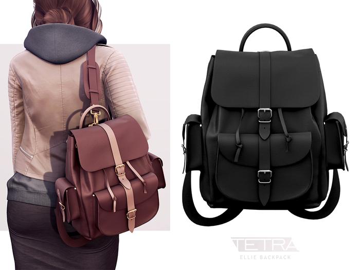 TETRA - Ellie Backpack (Black & Dark Black)