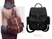 TETRA - Ellie Backpack (Black & Dark Black)
