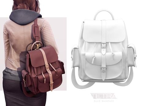 TETRA - Ellie Backpack (White & Light White)