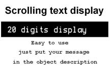 scrolling text display 20 digits