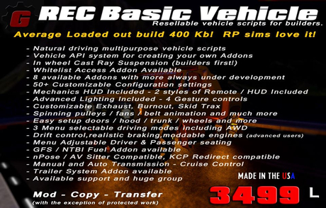 REC Basic Vehicle Scripts (2020)