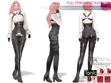SAVE! 2in1 Full Perm Futuristic Victorian Outfit Suit + Boots Costume For Maitreya Slink Belleza Tonic Ocacin Classic