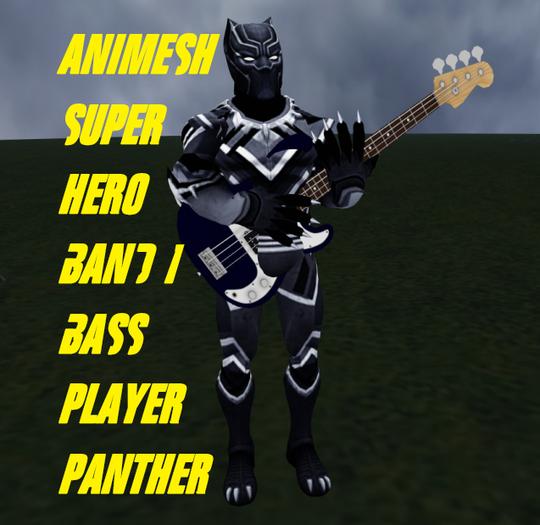 super hero band 1 bass panther
