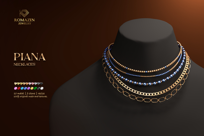Romazin - Necklaces <Piana>, FatPack