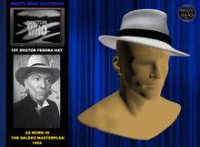 WW 1st Doctor Fedora Hat