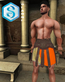 XK Tetraites Gladiator Skirt Orange