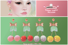 MAKOKOI . Golden  Cherry Earrings