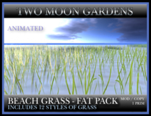 TMG - BEACH GRASS FAT PACK* Moving Grass - 12 different styles