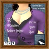 GPA Women's Bolero Jacket - Purple Royal Lilac (ADD to unpack)