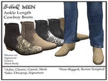 B-UniQ Men - DEMO Ankle Cowboy Boots