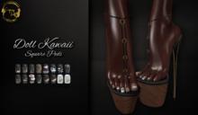 ~GD~Doll Kawaii(Square Pedi) - Legacy Mesh Feet (f)