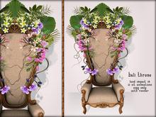 Boudoir-Bali Throne