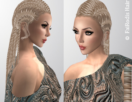 FaiRodis Vefried hair light blonde2 with decoration pack