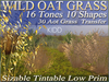 30 WILD OAT GRASS * 16 Tones * 10 Shapes * Sizable * Tintable