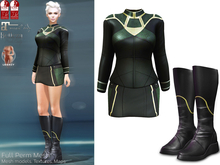 Full Perm Mesh Romulan Costume - Female  for MAITREYA, BELLEZA (Freya, Isis, Venus), SLINK (Physique, Hourglass), Legacy