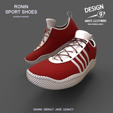 -[d9]- Ronin Sport Shoes - Red with White Trim