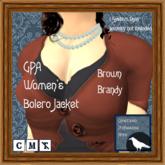 GPA Women's Bolero Jacket - Brown Brandy (ADD to unpack)