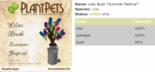 PlantPet Seed [Lilac Bush *Summer Festival*]