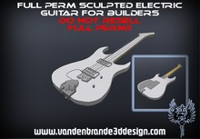 ~Full perm sculpted electric guitar + Maps!