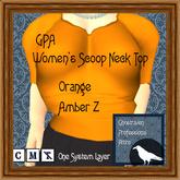 GPA Women's Scoop Neck Top - Orange Amber Z (ADD to unpack)