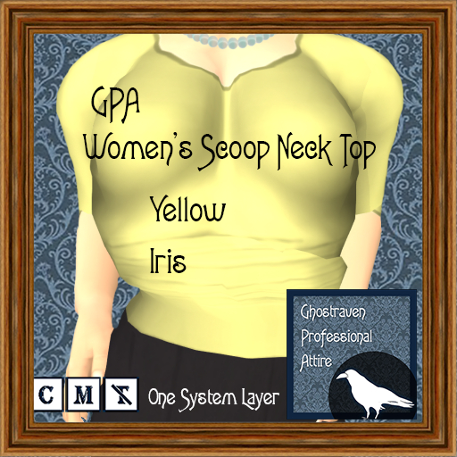 GPA Women's Scoop Neck Top - Yellow Iris (ADD to unpack)