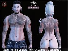 Rock Tattoo Legacy - Wolf & Demon ( Full Body )